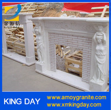 marble carving decoration fireplace (Competitive Price)