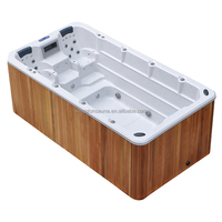 factory oem large outdoor spa pool/swim spa surfing spa