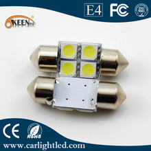 Festoon LED For Car Auto Lights Bulbs DC 12V 5050 SMD 4 LED Interior Dome Light Motorcycle Parts