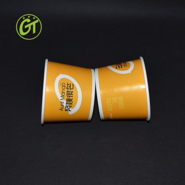 Disposable Food Packaging Box Custom Ice Cream Cup Biodegradable Paper Bowl