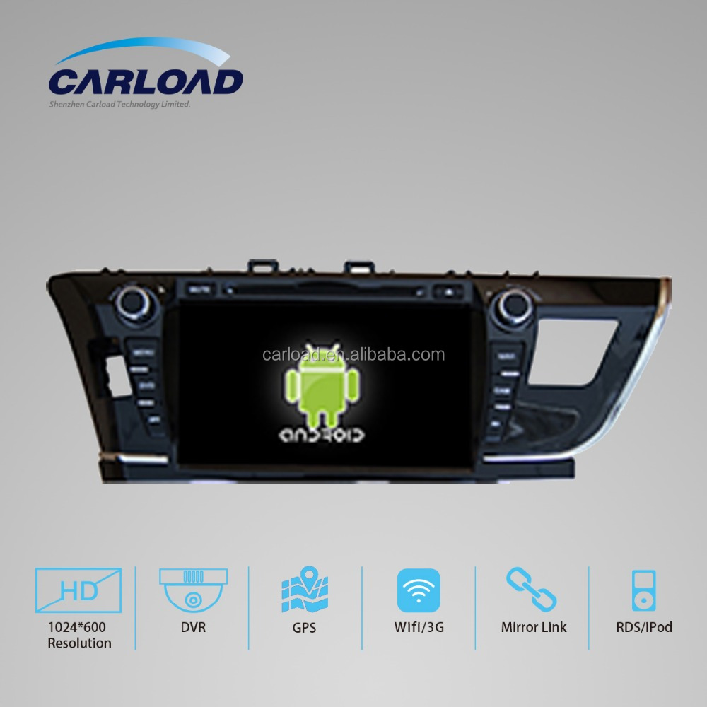 touch screen double din android 5.1 car gps dvd for Toyota Corolla 2014 2015