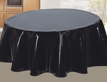 good quality vinyl dining table cover round polyester tablecloth banquet