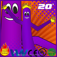20' Tall Inflatable Sky Air Dancer Dancing Tube Guy Air Puppet Purple