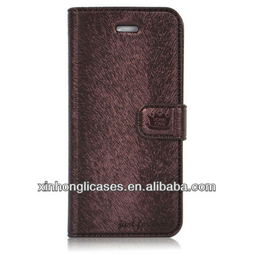 Mouse leather hot selling wallet case for iphone 5 cover