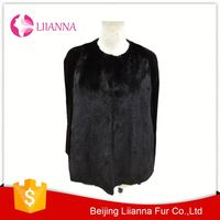 In Stock Hand Knitted Mink Fur Apparel Woman L076