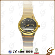 Fashion high quality quartz alloy case business brass watch