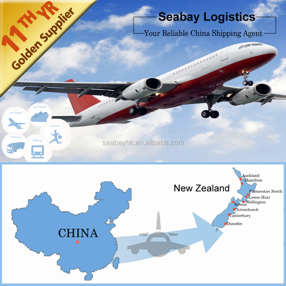 Cheap air freight shipping rates from China to New Zealand