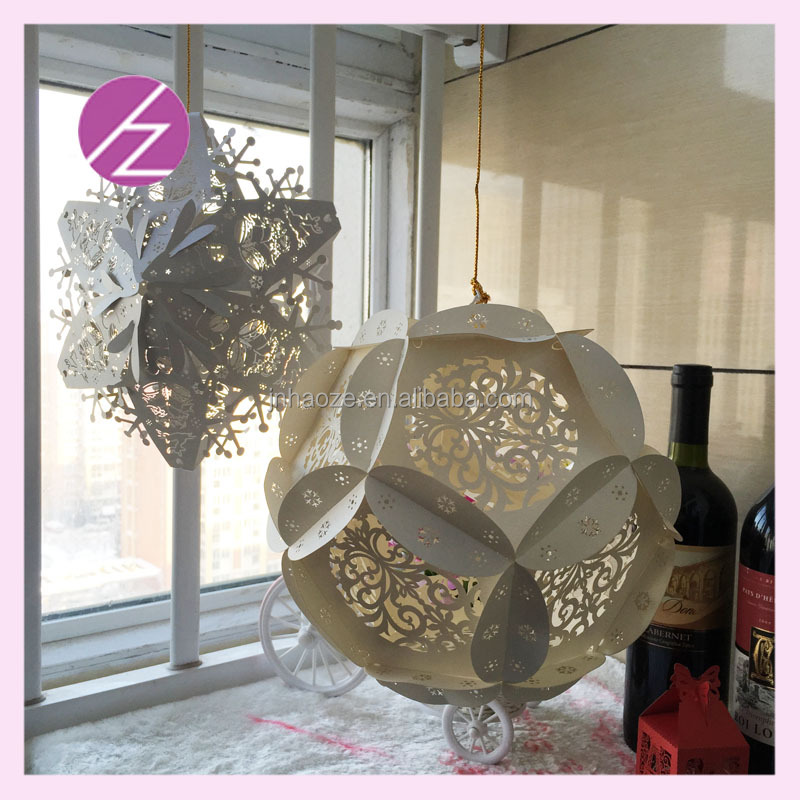 3d paper wall decoration christmas star tree decoration