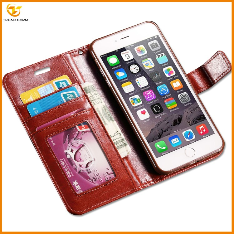 Hot selling flip pu leather case for iphone 7 plus