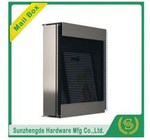 SMB-067SS Competitive Price Stainless Steel Standing Postboxes With Windows Mailboxes