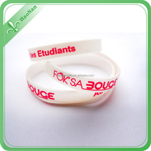 custom glowing in the dark colorful silicone wristband for event from manufacturer