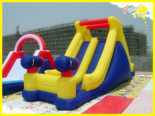 Funny outdoor games cheap inflatable water slides for kids