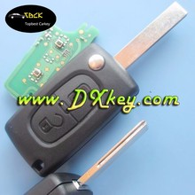 Topbest car key for Peugeot 407 2 remote key with groove CE0536 434 MHz ID46 Chip peugeot flip key