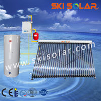 Multiple heating methods of split solar water heater system with tow copper coil(SKI-SC)