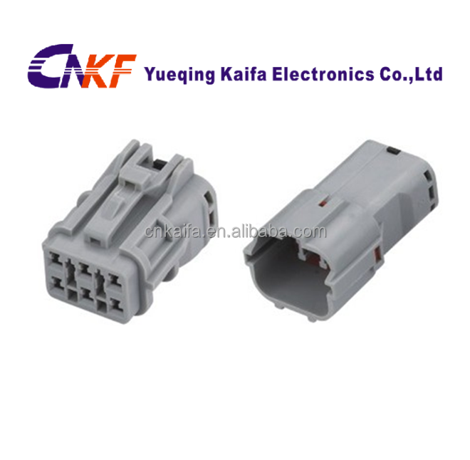 KET SWP 6 P Sealed gray Waterproof Male Female plug clip Auto wire Connector MG610335/MG640337