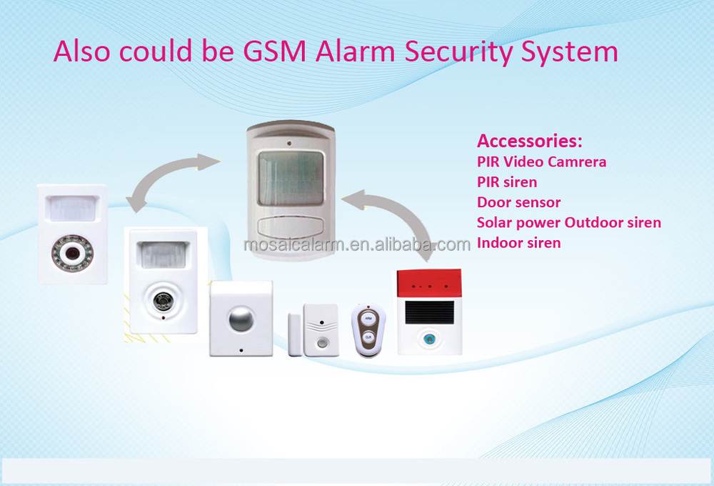 Autodial gsm wireless home burglar security alarm system for Buy house alarm system