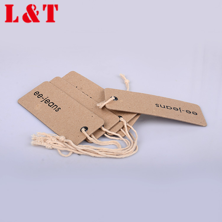 Fast Deliver Kraft Paper Hang Tag With Eyelet