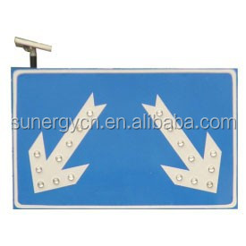 Outdoor two part electronic LED solar traffic <strong>signs</strong> for sale