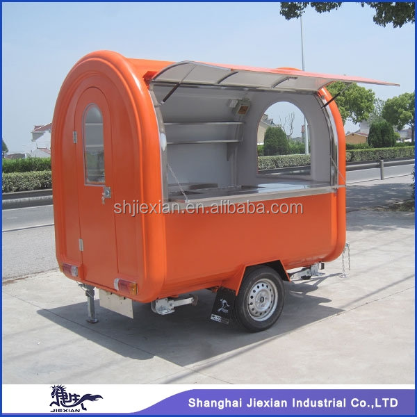 2015 china top brand JX-FR220B fiberglass mobile food cart catering truck
