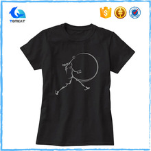 Cheap Custom Women Silk Screen Printing Crew Neck T Shirt