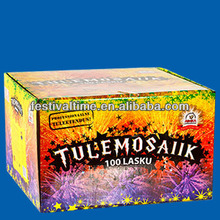 100 shots cake fireworks for Estonia