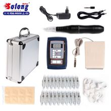 Solong Microblading Tattoo Pen with Needle Eyebrow Tattoo Machine Kit