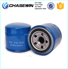 High Quality Auto Oil Cleaner Korea Oil Filter 26300-35502