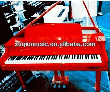 Wholesale Red Color Digital Three-legs Grand piano