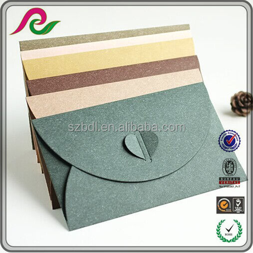 Creative custom design slap-up iridescent kraft paper envelope for business