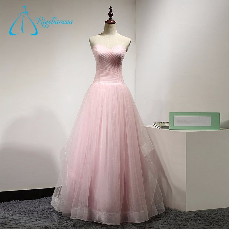 Pleat Tulle Formal Gowns Evening Dress In China