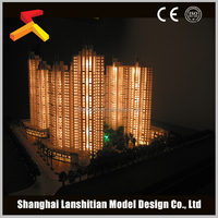 LED light building design model for real estate and exhibition show