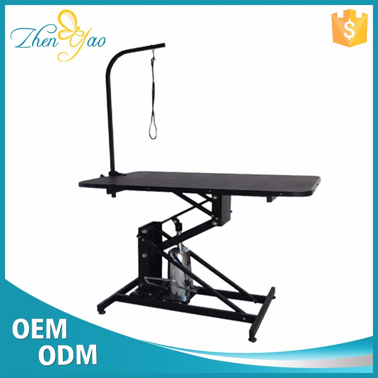 Hydraulic Lift Small Size Pet Dog Grooming Tables With Arms