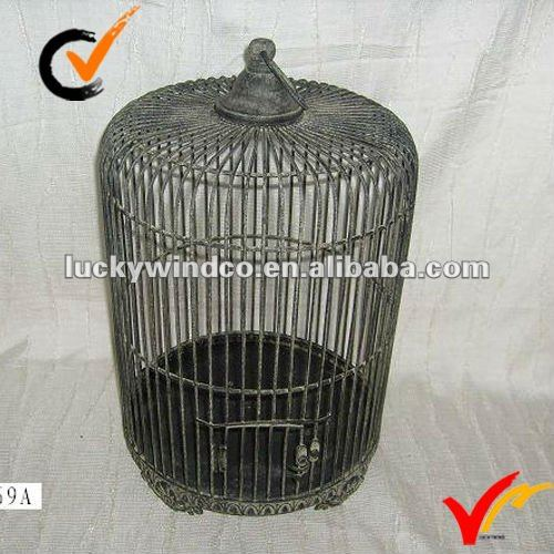 French country metal antique birdcage