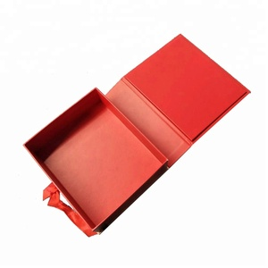 Christmas Design Luxury Cardboard Gift Packaging Box With Ribbon