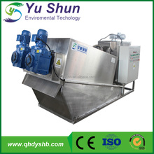 Self-clean screw filter press sludge dewatering machine