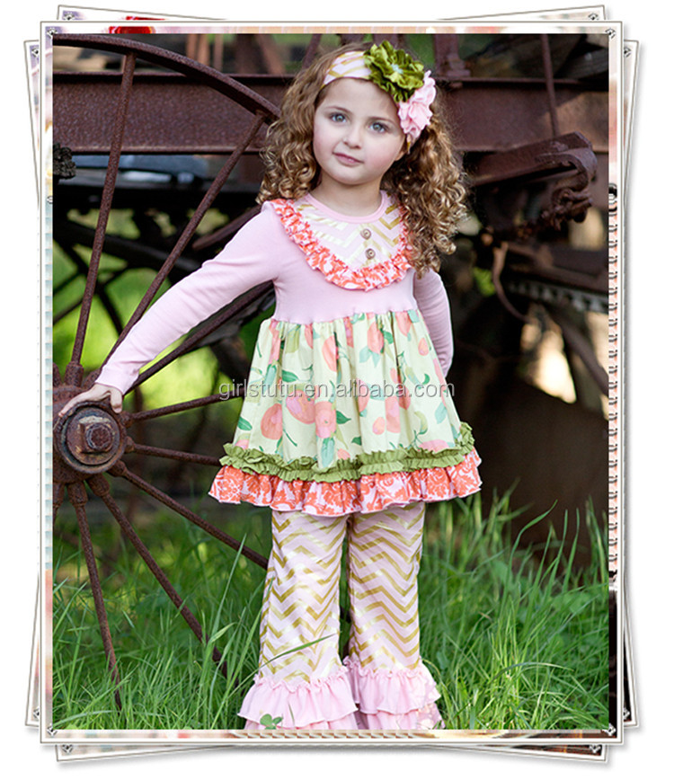 long sleeve dress chevron pants baby clothing wholesale clothing child model top 100 clothes for children 2015 kids fashion