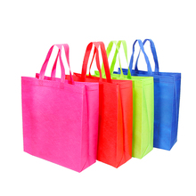 Custom handle pp non woven shopping tote bag for supermarket
