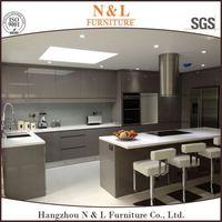 Natural Wood Home Furniture Set Ghana Kitchen Cabinet