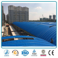 Color corrugated metal arched steel roof for roofing panel