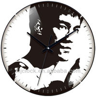 Wall Clock Numbers WH-6776 Design Dial Bruce Lee Picture