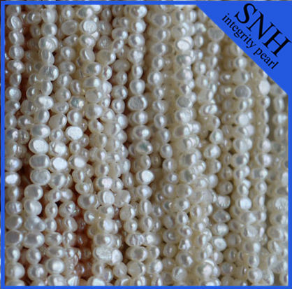 3-4mm nugget flat shape freshwater bulk pearls