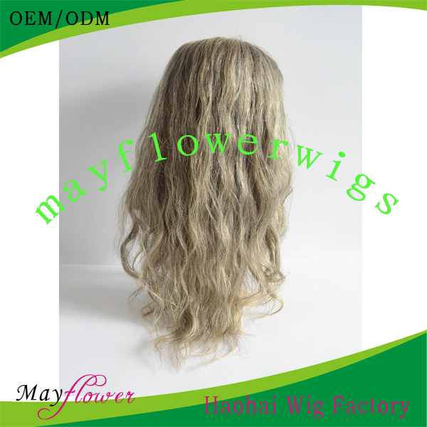 Blond 613# full lace wigs body wave lighter color hair baby hair full lace wig