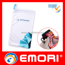 Best Quality RoHS standard custom design drawstring microfiber digital camera cleaning pouch