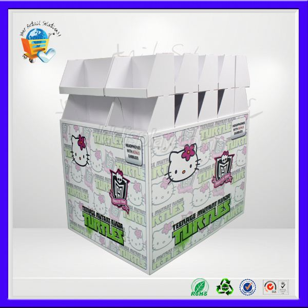kids corrugated cardboard house ,kids club house cell cardboard display stand ,kids club pop dispalys