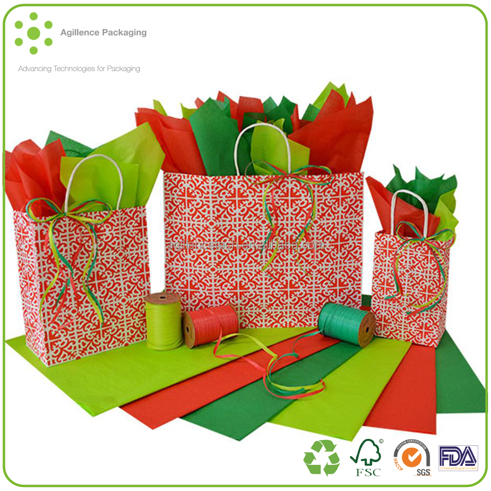 Hot Sale! Holiday Party and Christmas Theme Paper Gift Bags