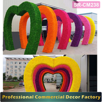 Custom shopping center and wedding entrance arch with flower decoration