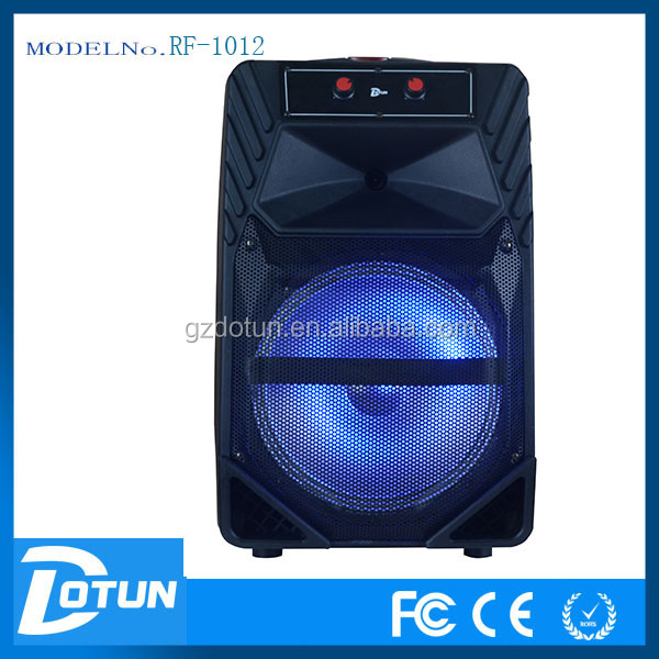 Dotun12 inch HIFI Bluetooth speaker with LED light . karaoke DJ sound system box