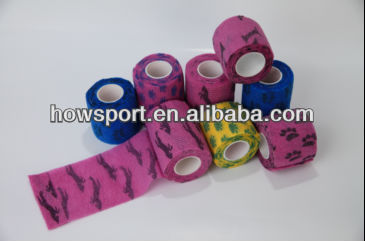 pet sports hand l self-adhesive gauze bandage TEARABLE wholesale puppy dog Cohesive tape roll (SY)