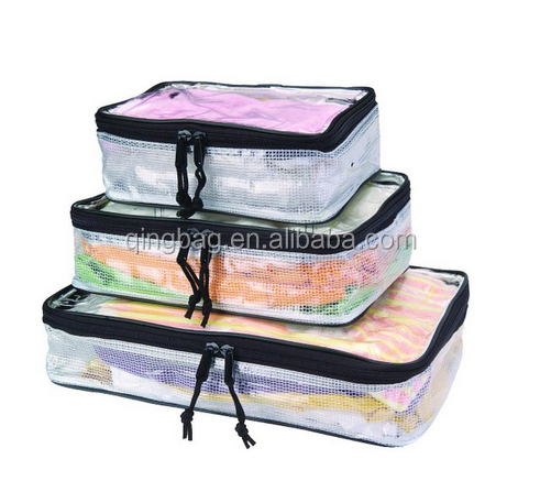 Proof PVC Packing Cubes Travel Organizers 3-Size Set