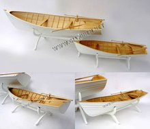 ROWING BOAT (SET OF 2) WOODEN FINISHING BOAT MODEL - WOODEN SHIP